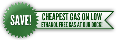 Cheapest Ethanol Free Gas at Jake's Northwest Angle