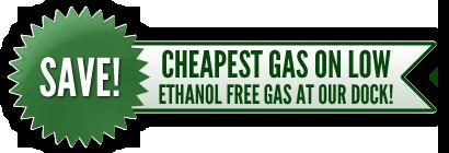 Cheapest Ethanol Free Gas at Jake's Northwest Angle